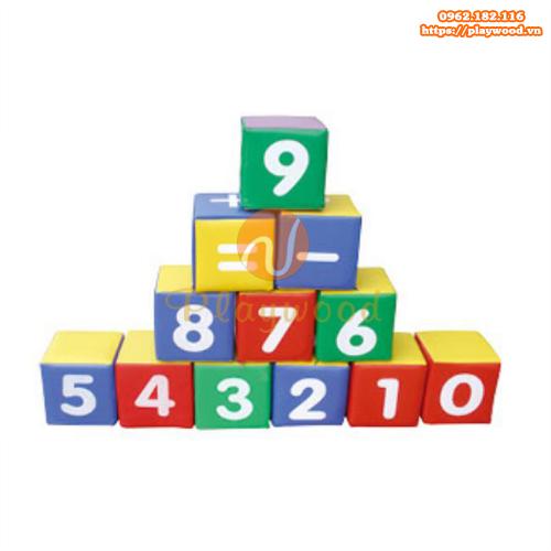 Bộ đồ chơi vận động mềm toán học hình vuông PW-4129