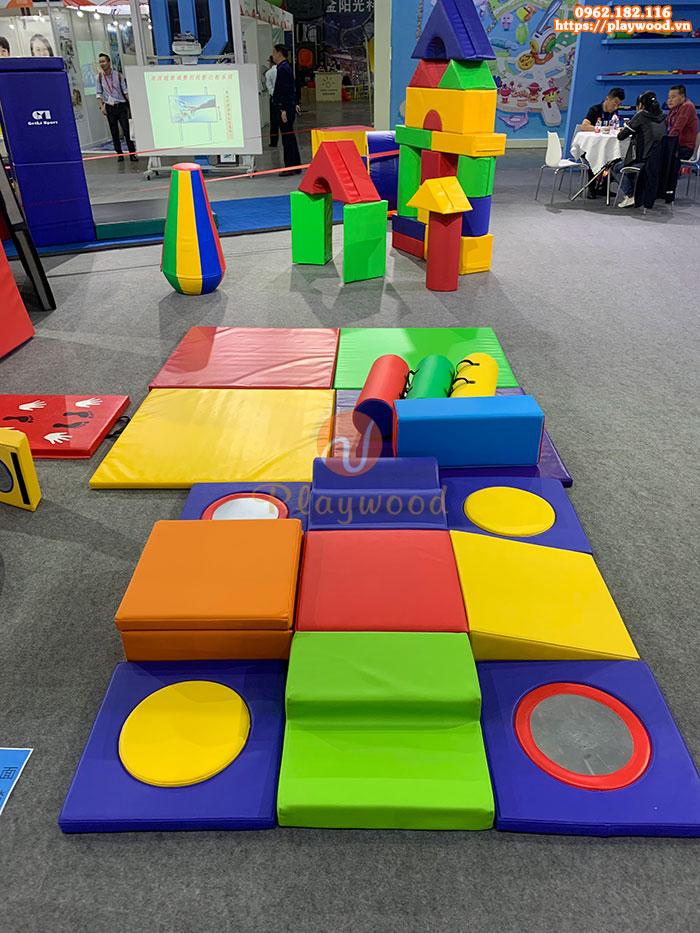 Bộ đồ chơi xếp khối mềm cho bé mầm non PW-4108