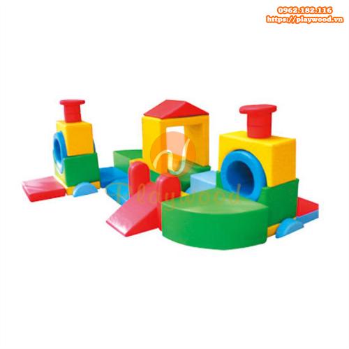 Bộ ghép khối đồ chơi vận động mềm mầm non PW-4117