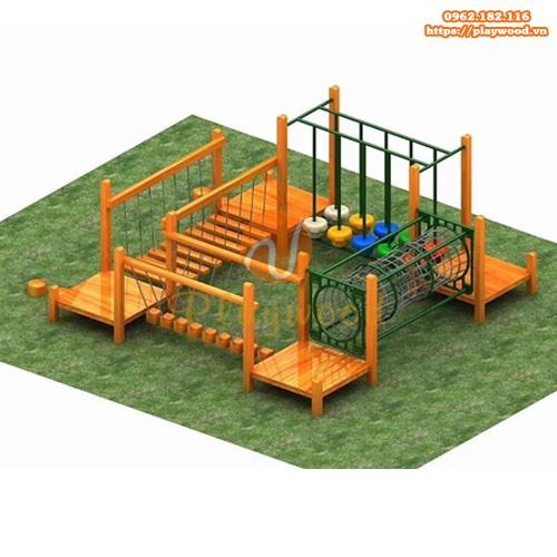 Bộ vận động liên hoàn thể chất gỗ PW-2100