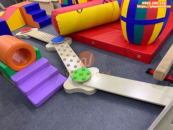 Bộ vận động thang leo cầu trượt mềm cho bé PW-4115