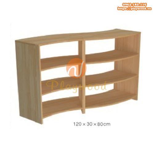 Kệ để đồ montessori 3 tầng cho mầm non PW-3115