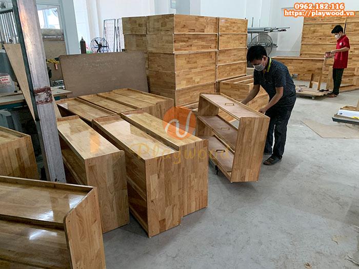 Kệ đựng đồ montessori 2 tầng PW-3144