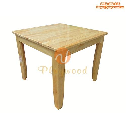 Mẫu bàn gỗ mầm non hình vuông PW-3310