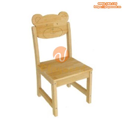 Mẫu ghế cho bé hình mặt gấu bằng gỗ PW-3315