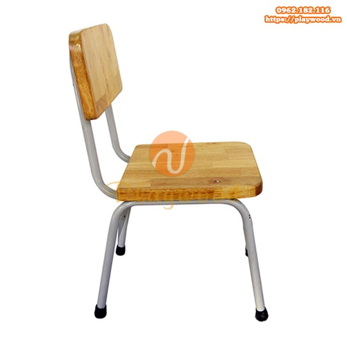 Mẫu ghế gỗ mầm non chân sắt PW-3307