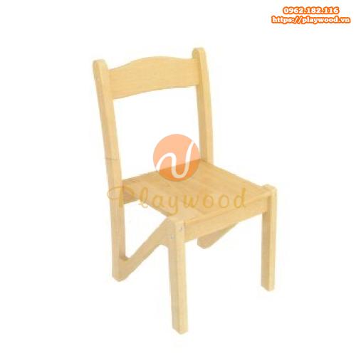 Mẫu ghế gỗ mầm non cho bé PW-3311