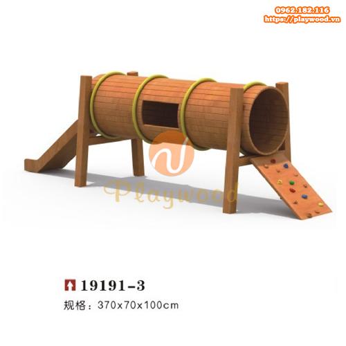 Ống chui cầu trượt vận động gỗ PW-2104