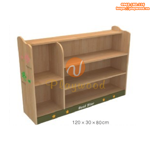 Tủ để đồ montessori cho trường mầm non PW-1117