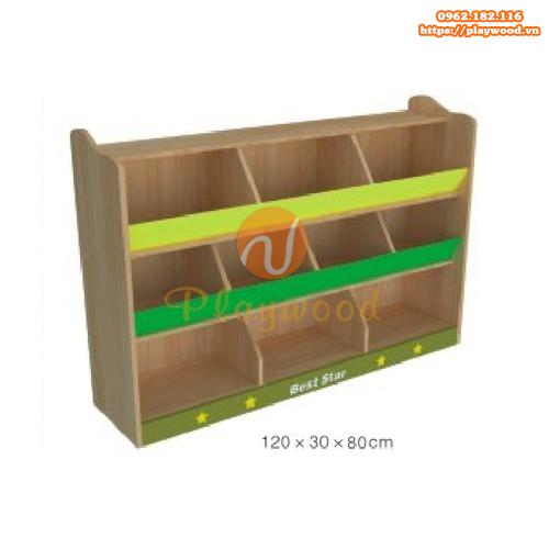 Tủ kệ đựng đồ montessori 3 tầng PW-1116