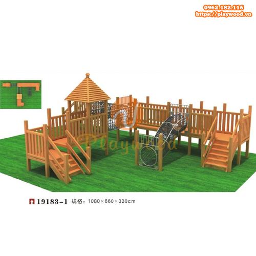 Vận động liên hoàn gỗ ngoài trời đa năng PW-2116-1