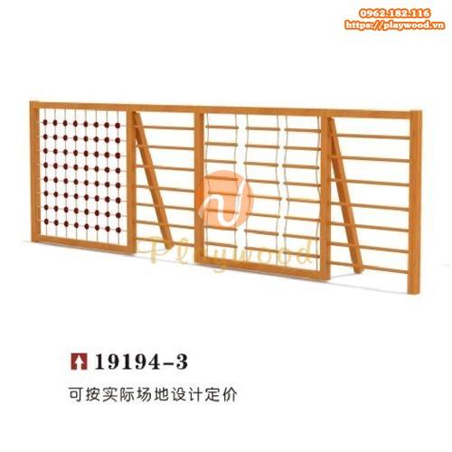 Bộ vách leo dây đa năng băng gỗ cho bé PW-2506