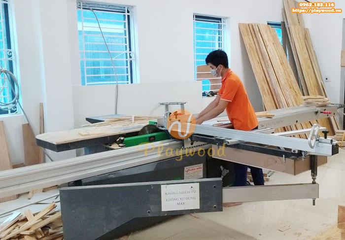 Giới thiệu xưởng sản xuất đồ chơi vận động mầm non gỗ của Playwood-2