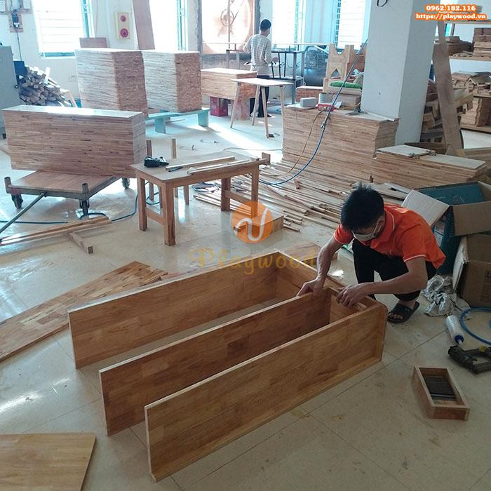 Giới thiệu xưởng sản xuất đồ chơi vận động mầm non gỗ của Playwood-3