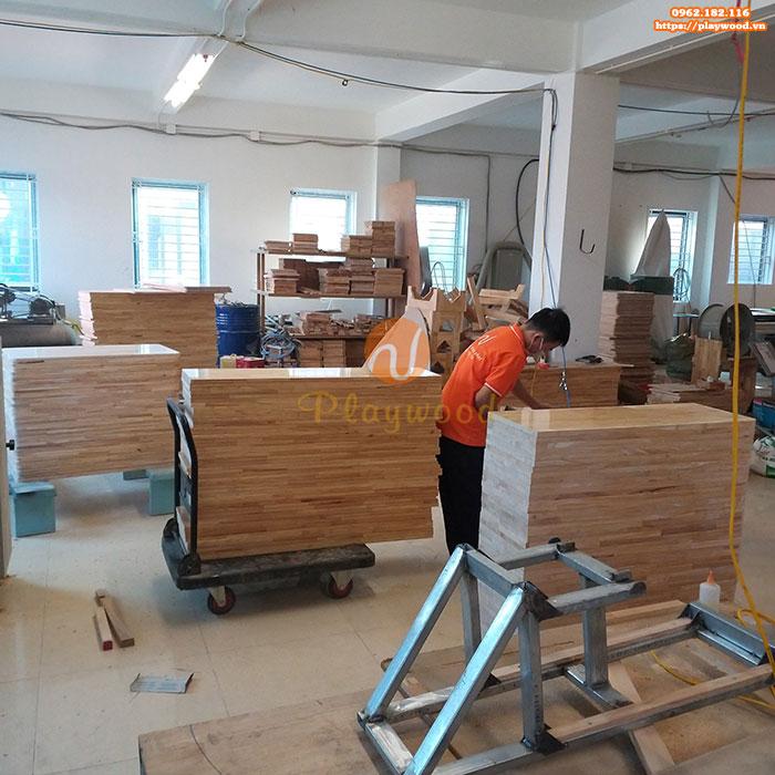 Giới thiệu xưởng sản xuất đồ chơi vận động mầm non gỗ của Playwood-4