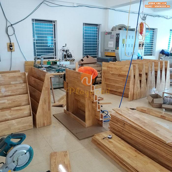 Giới thiệu xưởng sản xuất đồ chơi vận động mầm non gỗ của Playwood-5