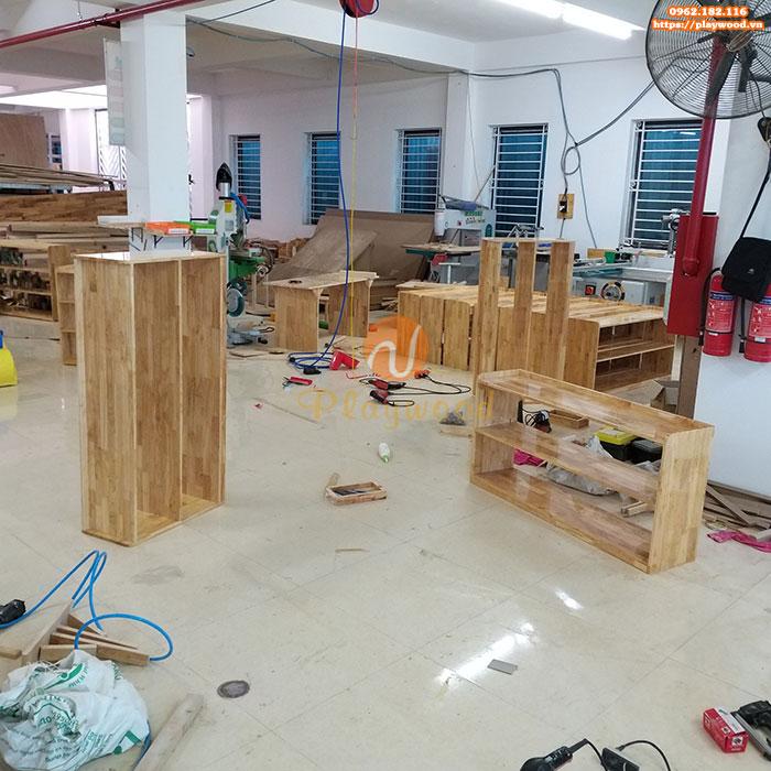 Giới thiệu xưởng sản xuất đồ chơi vận động mầm non gỗ của Playwood-6