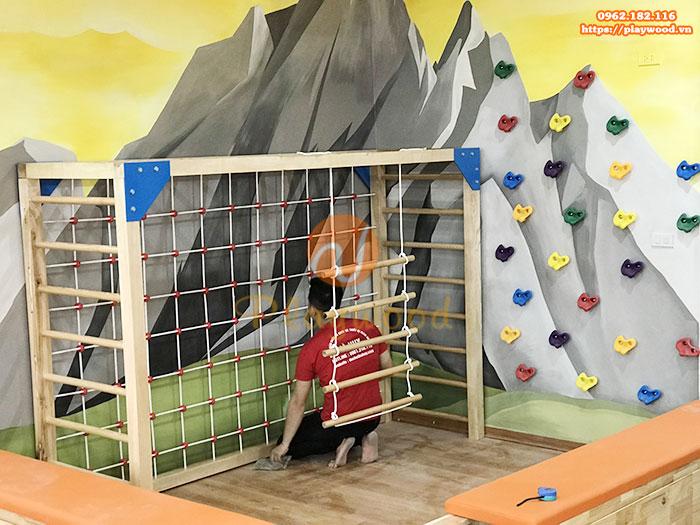 Mẫu thang leo xà đu cho bé mầm non PW-2705   PlayWood