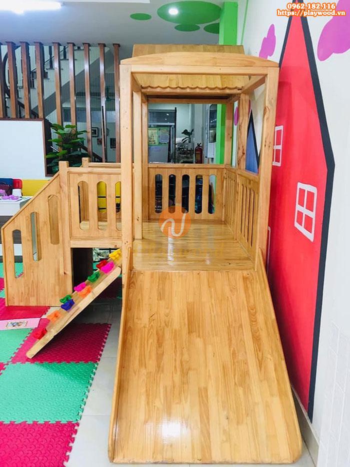 Nhà khối cầu trượt bằng gỗ giá rẻ tại hà nội PW-1114