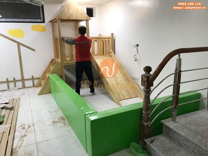Sản xuất cầu trượt liên hoàn gỗ trong nhà cho khách tại Hà Nội-2
