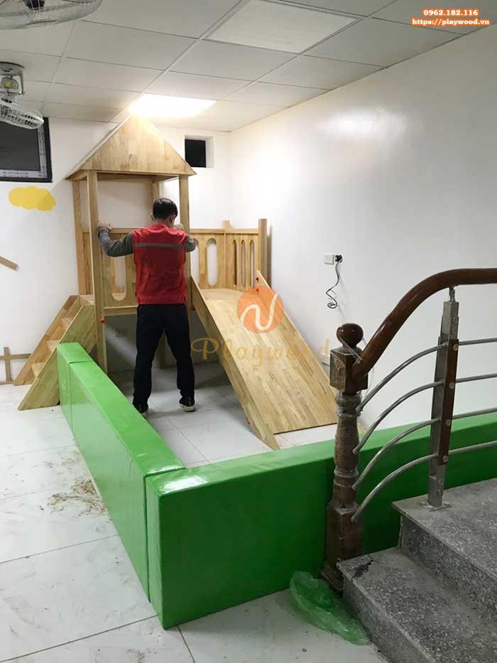 Sản xuất cầu trượt liên hoàn gỗ trong nhà cho khách tại Hà Nội-4