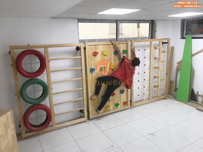 Sản xuất lắp đặt bộ leo núi gỗ đa năng cho bé tại Hà Nội-2