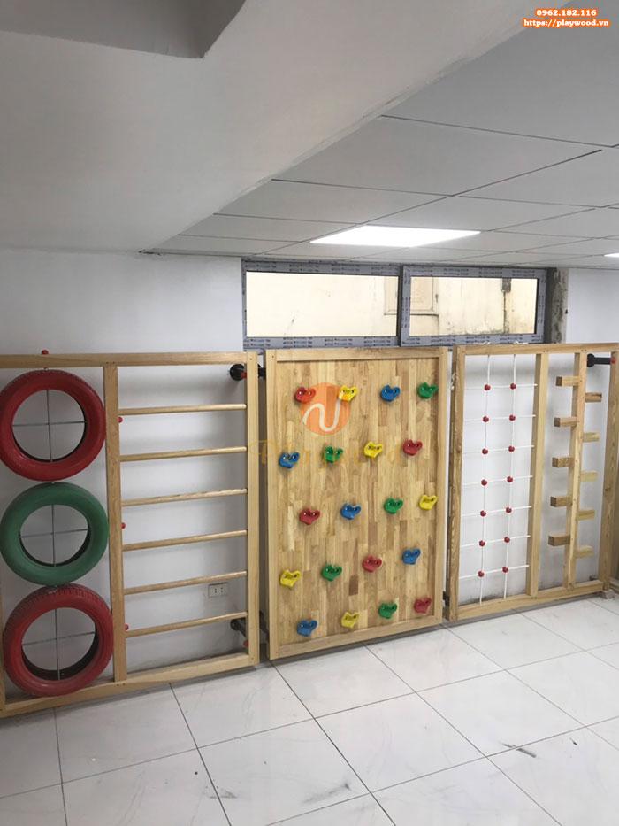 Sản xuất lắp đặt bộ leo núi gỗ đa năng cho bé tại Hà Nội-4