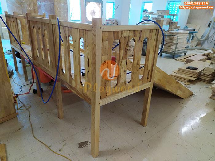 Sản xuất lắp đặt cầu trượt liên hoàn gỗ trong nhà cho khách tại Hà Nội-4