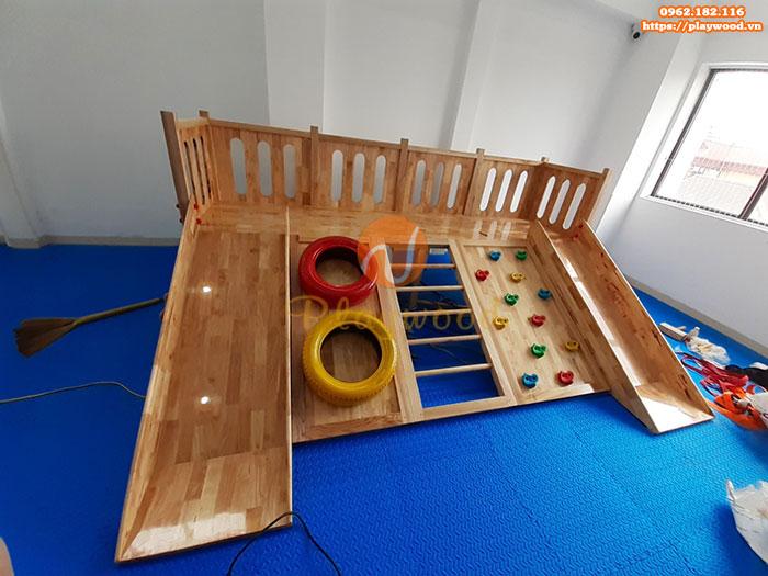 Sản xuất lắp đặt cầu trượt liên hoàn gỗ trong nhà cho khách tại Hà Nội-5