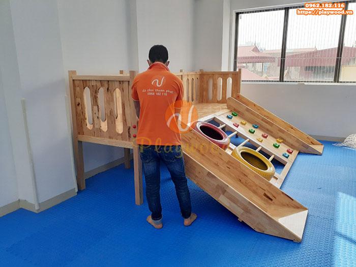 Sản xuất lắp đặt cầu trượt liên hoàn gỗ trong nhà cho khách tại Hà Nội-6