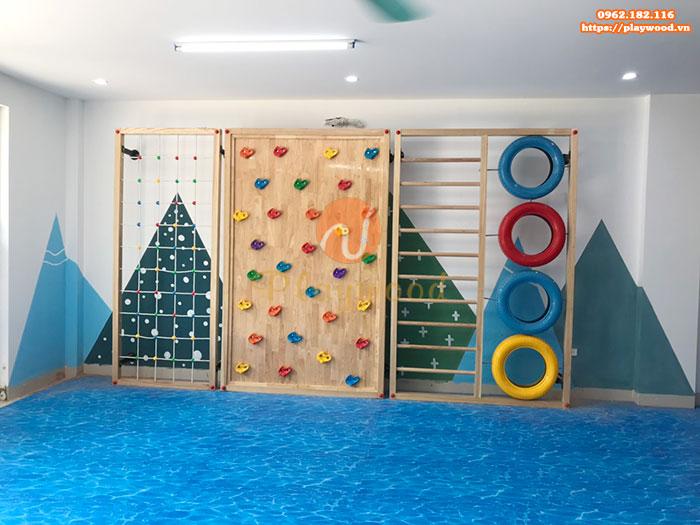 Sản xuất lắp đặt vách leo núi cho trường mầm non tại Hà Nội-2