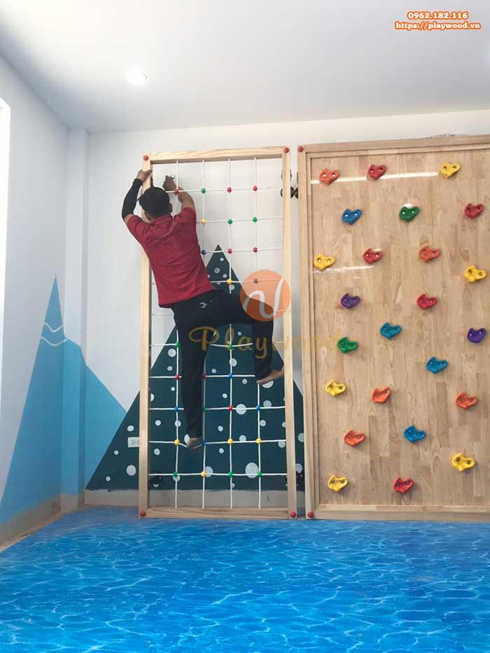 Sản xuất lắp đặt vách leo núi cho trường mầm non tại Hà Nội-4