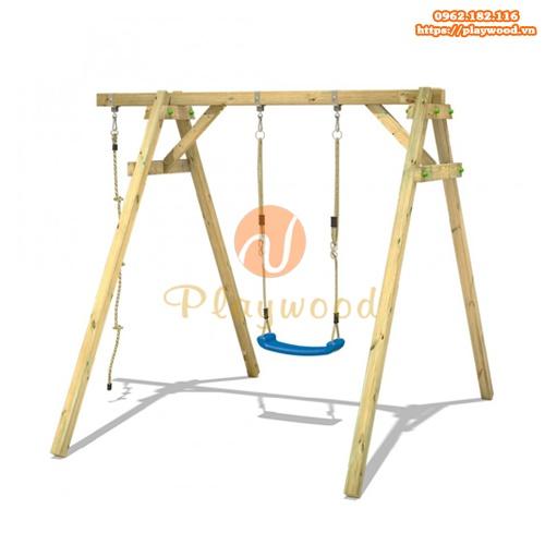 Xích đu ghế đơn bằng gỗ cho bé PW-2300