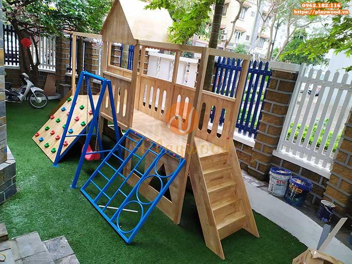 Hướng dẫn bảo quản cầu trượt liên hoàn gỗ ngoài trời cho bé bền đẹp