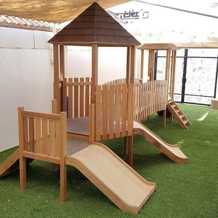 Hướng dẫn bảo quản cầu trượt liên hoàn gỗ ngoài trời cho bé bền đẹp-2