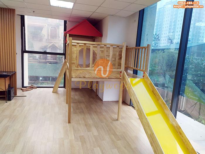 Sản xuất lắp đặt cầu trượt liên hoàn gỗ cho trường mầm non tư thục tại Hà Nội-10