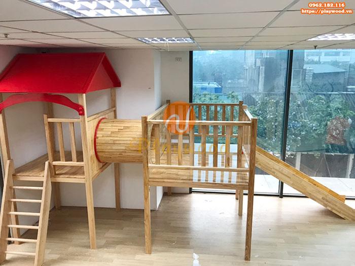Sản xuất lắp đặt cầu trượt liên hoàn gỗ cho trường mầm non tư thục tại Hà Nội-8