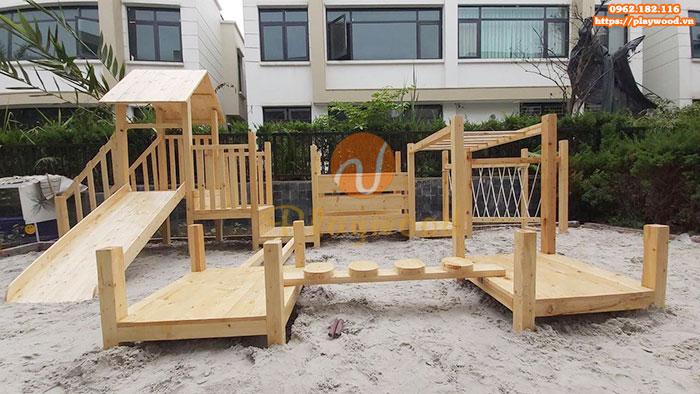 Tư vấn mua cầu trượt liên hoàn gỗ ngoài trời cho khu đô thị, chung cư
