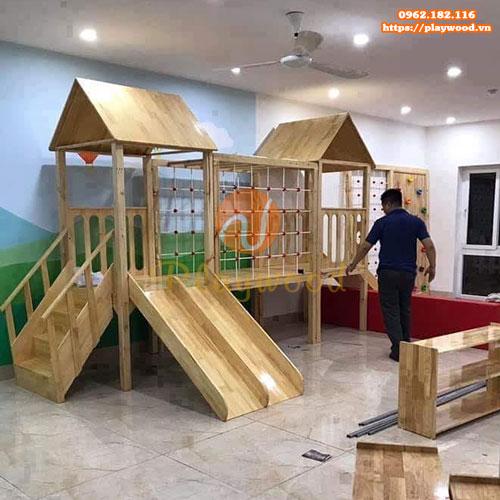 5 mẫu cầu trượt liên hoàn gỗ phù hợp cho trường mầm non tư thục-5
