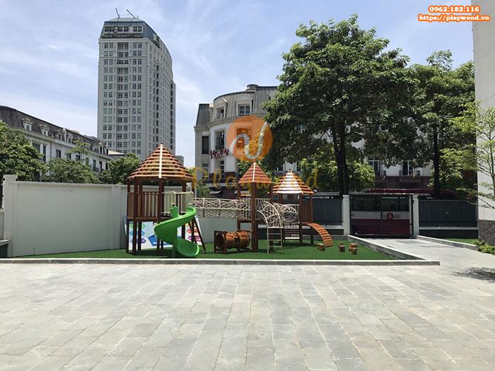 Tư vấn mua cầu trượt liên hoàn gỗ cho khu vui chơi trẻ em ngoài trời
