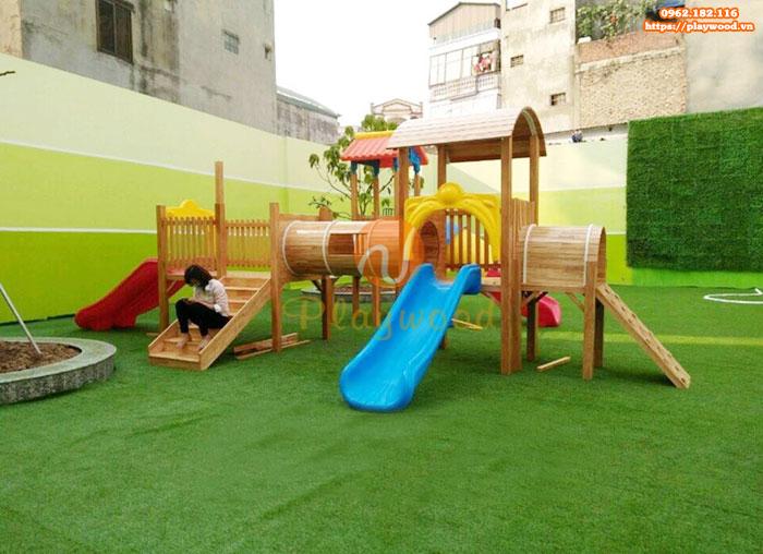 Tư vấn mua cầu trượt liên hoàn gỗ cho khu vui chơi trẻ em ngoài trời-2