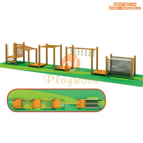 Bộ vận động liên hoàn gỗ cho sân chơi trẻ em tại khu chung cư đô thị-2