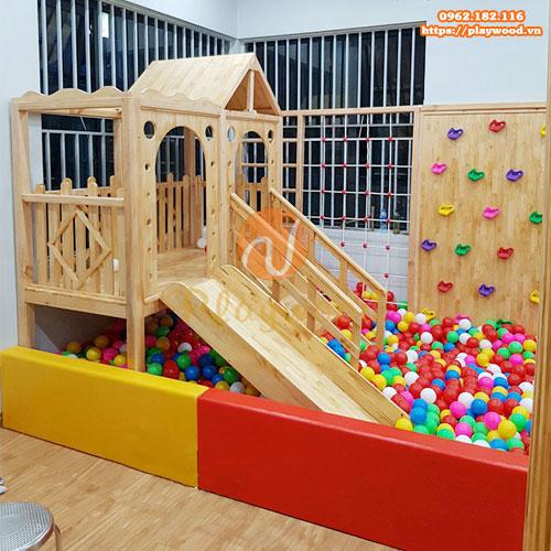 Sản xuất bể bóng cầu trượt liên hoàn gỗ trong nhà chất lượng giá rẻ-5