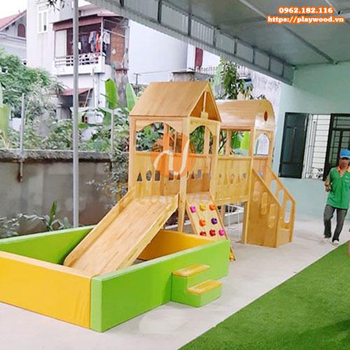 Sản xuất bể bóng cầu trượt liên hoàn gỗ trong nhà chất lượng giá rẻ-6