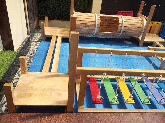 Tư vấn chọn bộ vận động liên hoàn gỗ cho trường mầm non tư thục