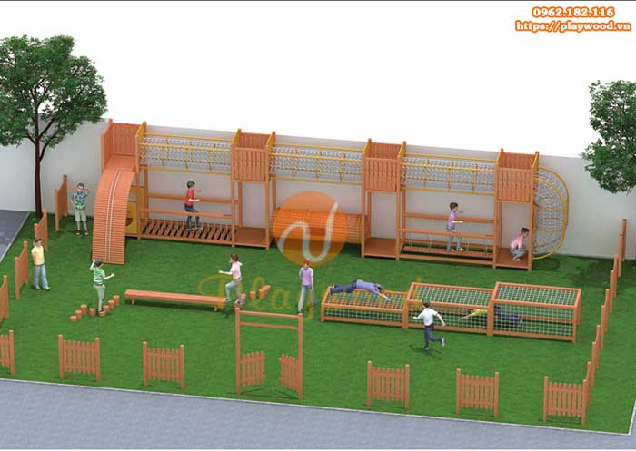 Cách bảo quản bộ vận động liên hoàn gỗ ngoài trời bền đẹp